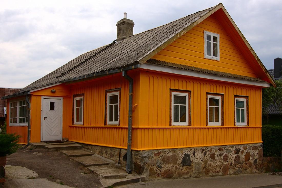 Trakai, Lithuania:  Yellow House #1