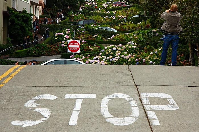 San Francisco: Lombard St. STOP