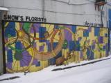 Bike Wheel Mural